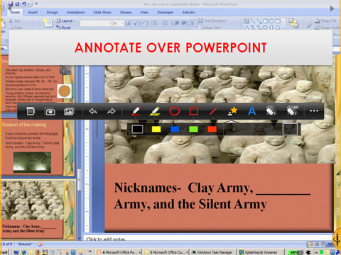 ANNOTATION OVER A POWERPOINT SLIDE