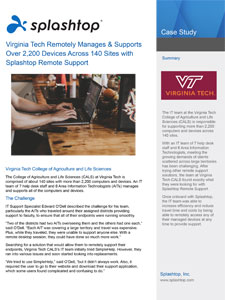 Virginia Tech – Remote Support for IT